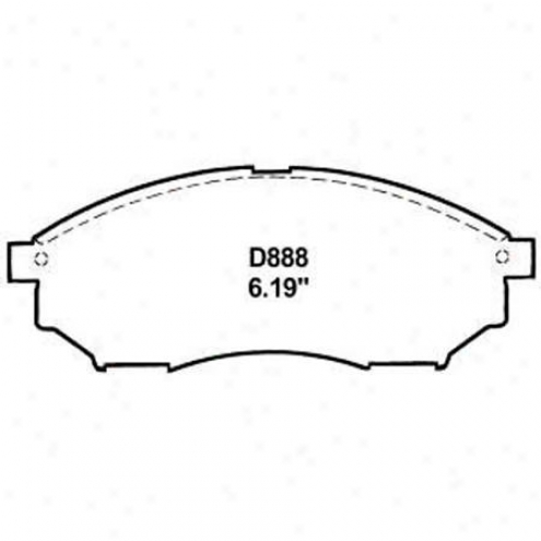 Wearever Silver Brake Pads/shoes - Front - Mkd 888/mkd 888