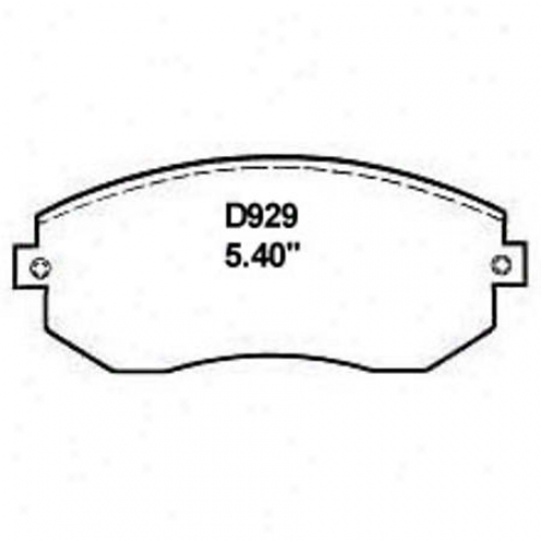 Wearever Silver Brake Pads/shoes - Front - Mkd 929