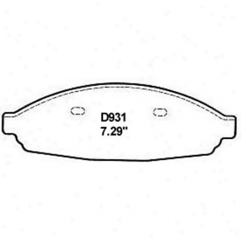 Wearever Silver Brake Pads/shoes - Front - Mkd 931