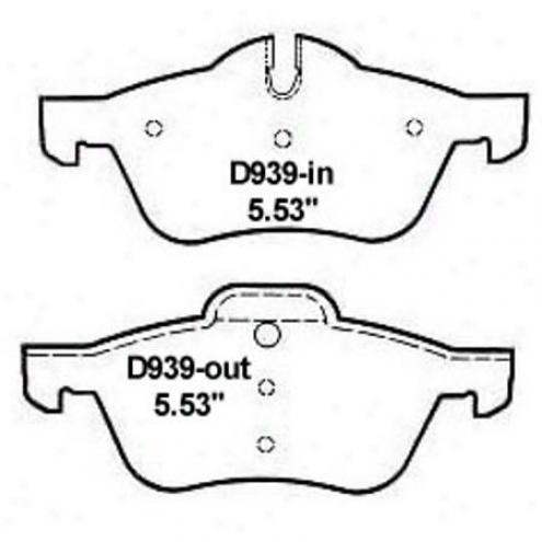 Weare\/er Soft and clear  Brake Pads/shoes - Front - Mkd 939