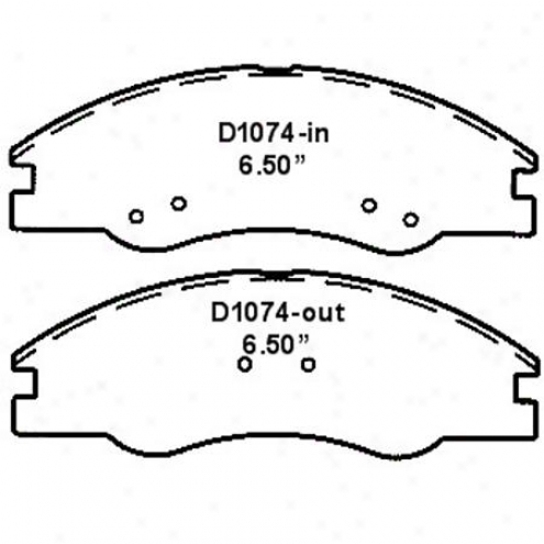 Wearever Silver Brake Pads/shoes - Front - Nad 1074