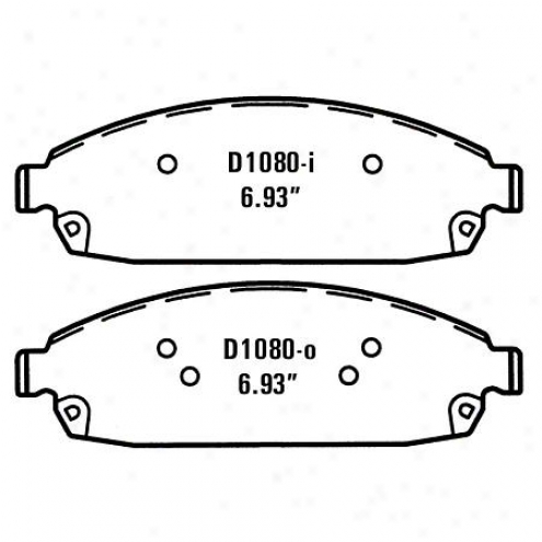 Wearever Silver Brake Pads/shoes - Front - Nad 1080