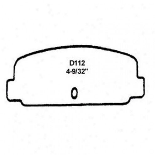 Wearever Silver Brake Pads/shoes - Front - Nad 112