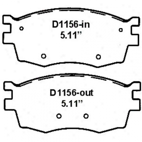 Wearever Silver Brake Pads/shoes - Front - Nad 1156