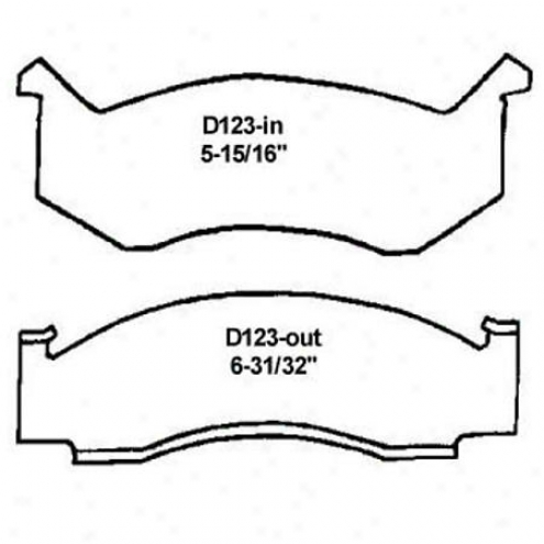 Wearever White Brake Pads/shoes - Front - Nad 123