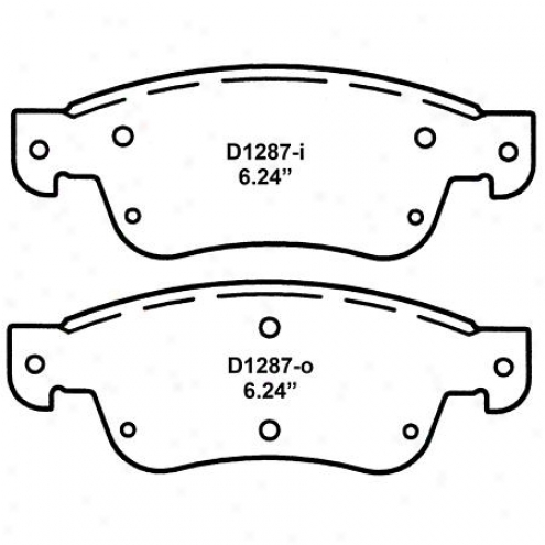 Wearever Silver Brake Pads/shoes - Front - Nad 1287