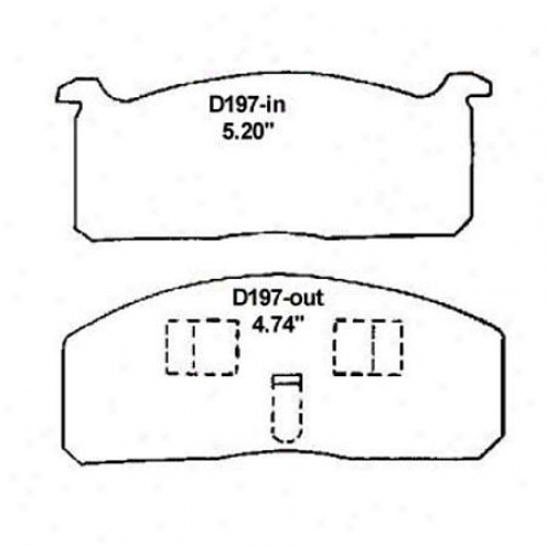 Wearever Silver Brake Pads/shoee - Front - Nad 197/nad 197