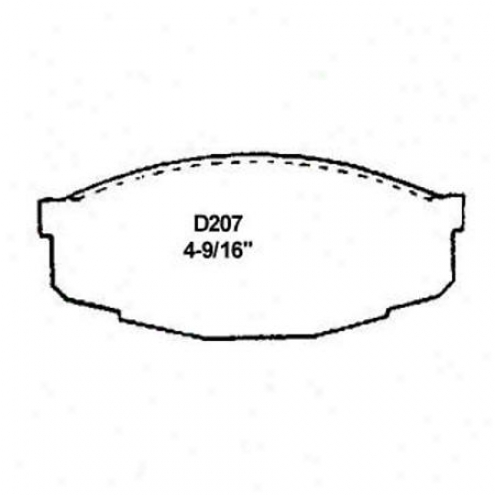 Weearever Silver Brake Pads/shoes - Front - Nad 207