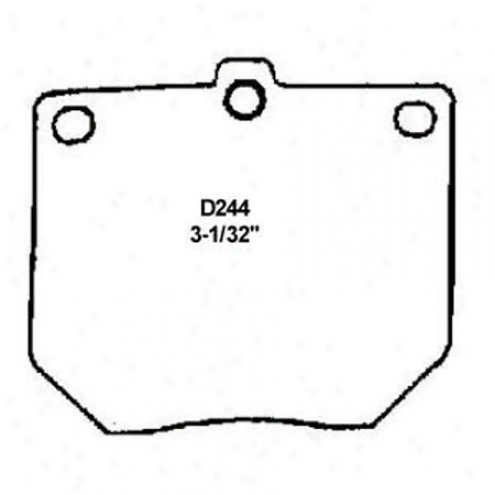 Wearever Silver Brake Pads/shoes - Front - Nad 244/nad 244