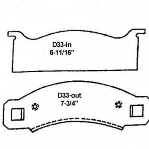 Wearever Silver Brake Pads/shoes - Front - Nad 33
