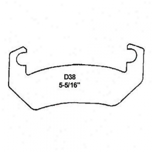 Wearever Silver Brake Pads/shoes-  Front - Nad 38