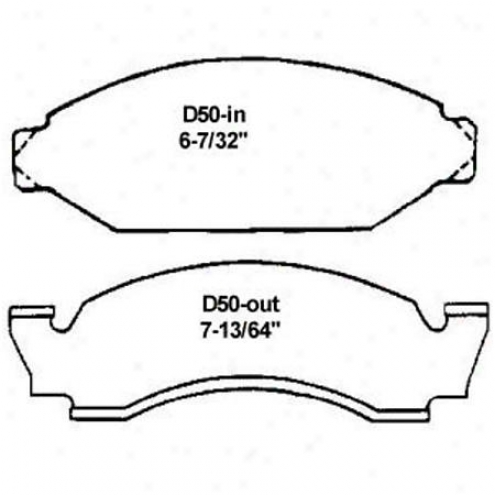 Wearever Silver Brake Pads/shoees - Front - Nad 50