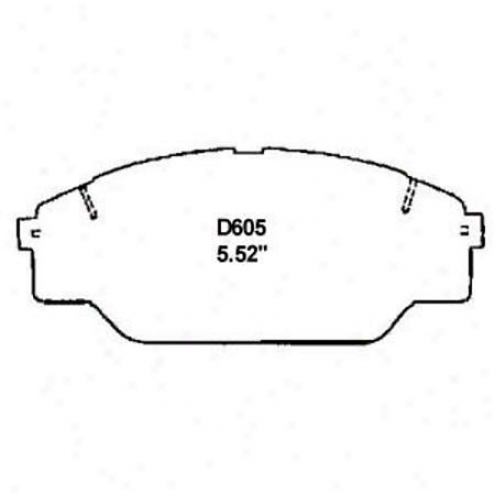 Wearever Silver Brake Pads/shoes - Front - Nad 605/nad 605