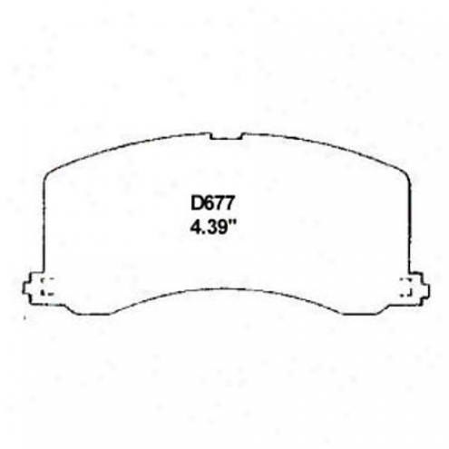 Wearever Silver Brake Pads/shoes - Front - Nad 677