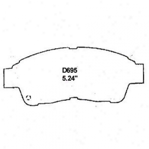 Wearever Silver Brake Pads/shoes - Front - Nad 695