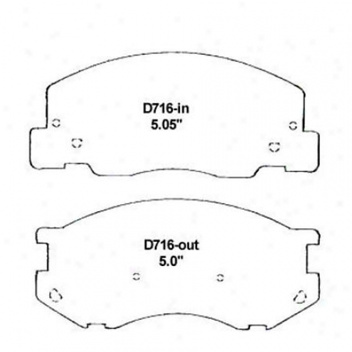 Wearever Silver Brake Pads/shoes - Forehead - Nad 716