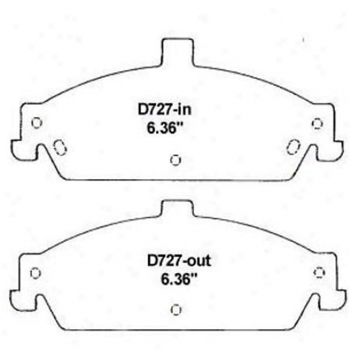 Wearever White Brake Pads/shoes - Front - Nad 727