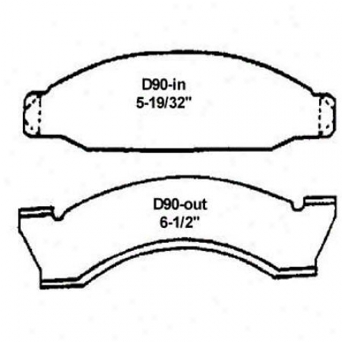 Wearever Silver Brake Pads/shoes - Front - Nad 90