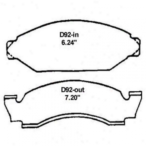 Wearever Silver Brake Pads/shoes - Front - Nad 92