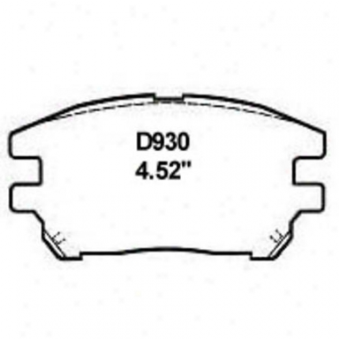 Wearever Silver Brake Pads/shoes - Front - Nad 930/nad 930