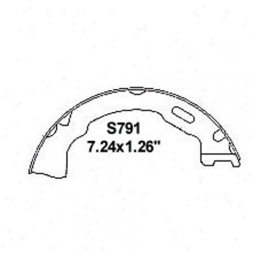 Wearever Silvery Brake Pads/shoes - Parking - Nb791