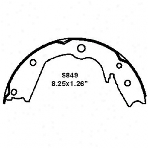 Wearever Silver Brake Pads/shoes - Parking - Nb849