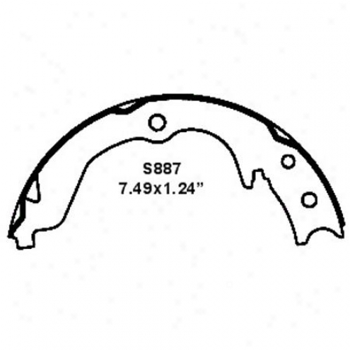 Wearever Silver Brake Pads/shoes - Parking - Nb887