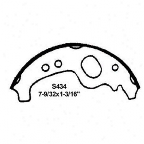 Wearever Silver Brake Pads/shoes - Rear - Fb434
