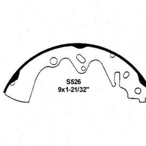 Wearever Silver Brake Pads/shoes - Rear - Fb526