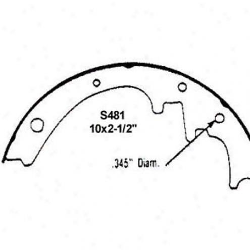 Wearever Silver Brake Pads/shoes - Rear - Fr481