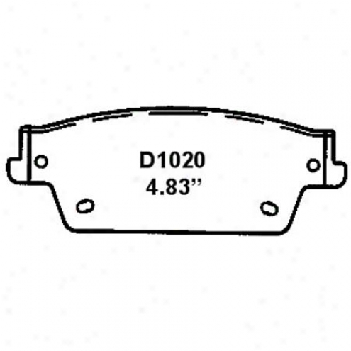 Wearever Silver Brake Pads/shoes - Rear - Mkd 1020