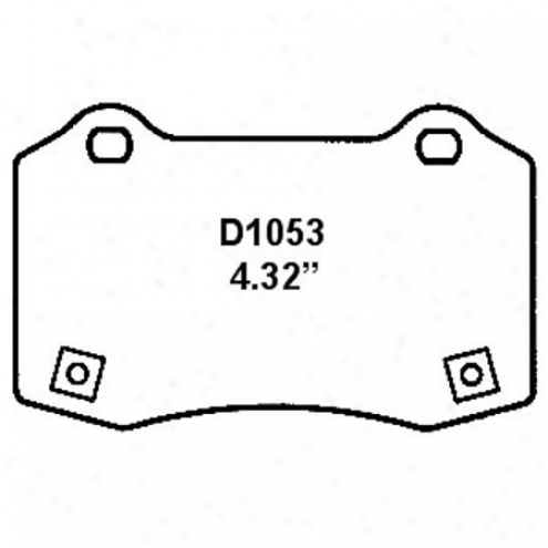 Wearever Silver Brake Pads/shoes - Rear - Mkd 1053
