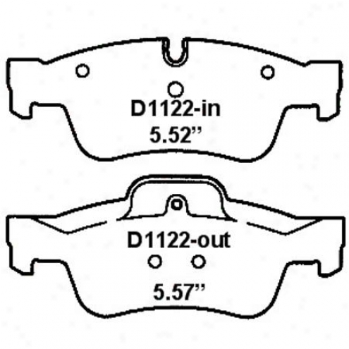 Wearever Silver Brake Pads/shoes - Rear - Mjd 1122