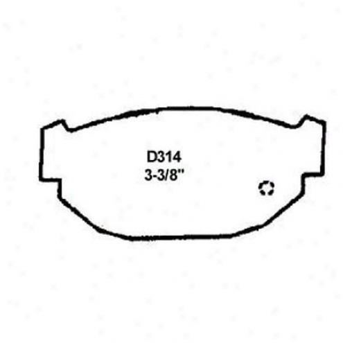 Wearever Silver Brake Pads/shoes - Rear - Mkd 314