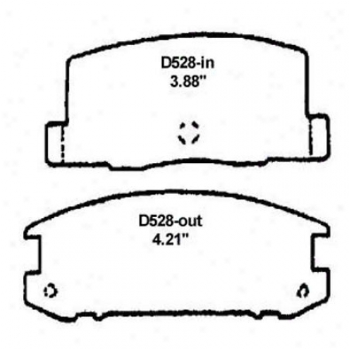 Wearever Sllver Brake Pads/shoes - Rear - Mkd 528