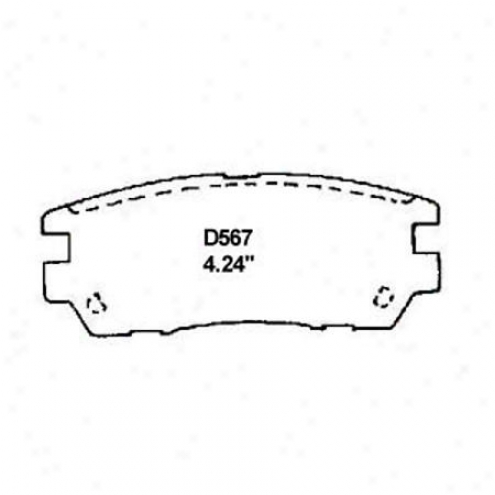 Wearever Silver Brake Pads/shoes - Rear - Mkd 567