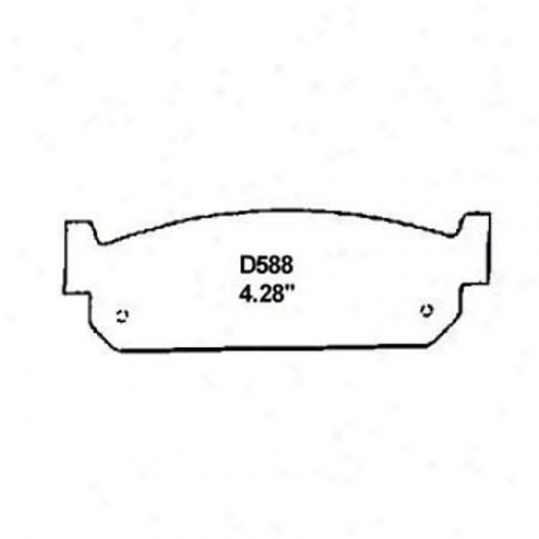 Wearever Silver Brake Pads/shoes - Rear - Mkd 588