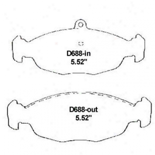 Wearever Silver Brake Pads/shoes - Rear - Mkd 688