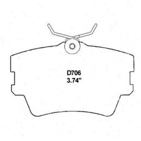 Wearever Soft and clear  Braek Pads/shoes - Rear - Mkd 706