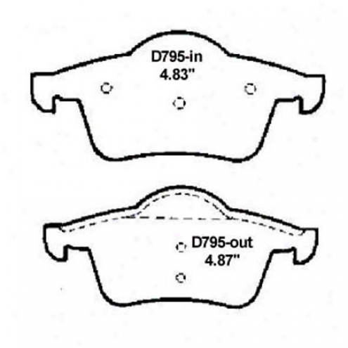 Wearever Silver Brake Pads/shoes - Rear - Mkd 795