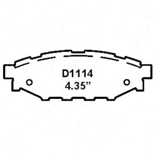 Wearever Silver Brake Pads/shoes - Rear - Nad 1114