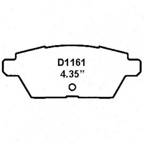 Weearever Silver Brake Pads/shoes - Rear - Nad 1161
