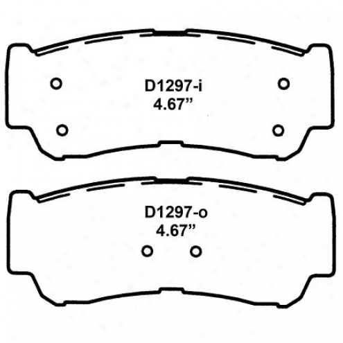 Wearever Silver Brake Pads/shoes - Rear - Nad 1297/nad 12