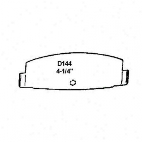 Wearevsr Silver Brake Pads/shoes - Rear - Nad 144