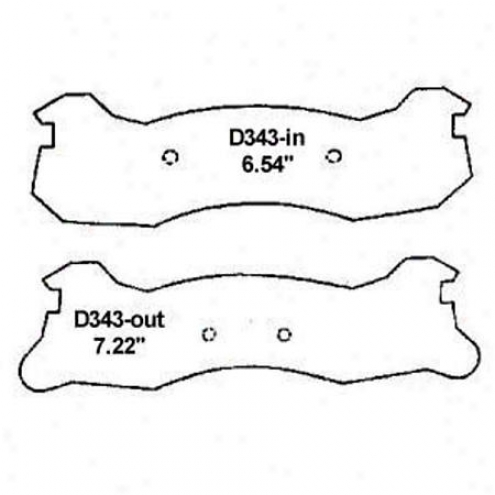 Wearever Silver Brake Pads/shoes - Rear - Nad 343