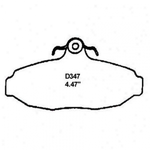 Wearever Silver Brake Pads/shoes - Rear - Nad 347/nad 347