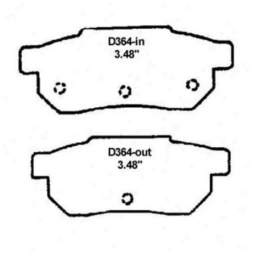 Wearever Silver Brake Pads/shoes - Rear - Nad 364/nad 364