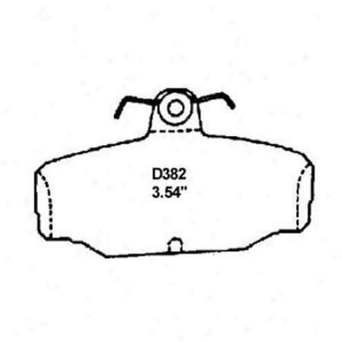 Wearever Silver Brake Pads/shoes - Rear - Nad 382/nad 382