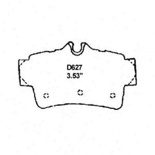 Wearever Silver Brake Pads/shoes - Rear - Nad 627