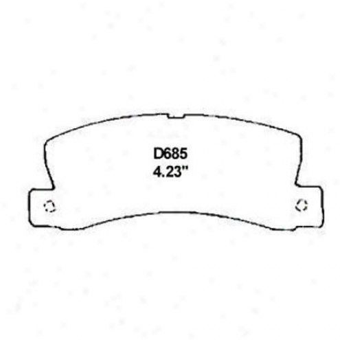 Wearever Silver Brake Pads/shoes - Rear - Nad 685/nad 685